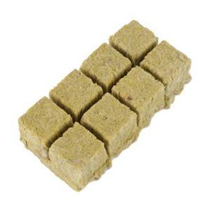 Cabilock 8 Pcs Laine de Roche Laine de Roche Cubes de Culture Feuilles de Démarrage pour Le Clonage de Semences de Plantes à Partir de Milieux de Culture Hydroponiques pour Une Croissance