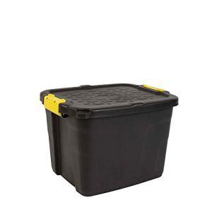 Cep 2004430130 Boite de Rangement, Plastique, Noir et Jaune, 50 x 40 x 35 cm