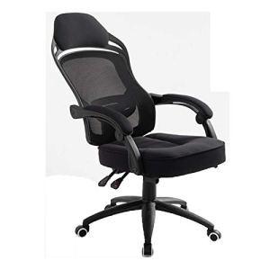 Chaise de bureau ergonomique pivotante en maille pour ordinateur – Support de taille – Chaise de bureau pour jeux vidéo