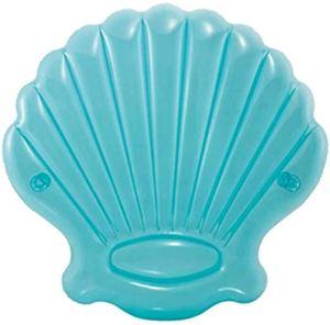 Chaise longue gonflable à la baignade Lit de la pavillon de buffle Aire flottante Plage Tapis de plage Chaise décontractée Seashell Vit,Blue