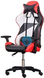 Chaise pivotante Chaise Jeu Vidéo, levage Handrail haut dossier Racing multifonction Chaise de bureau avec Reclining appuie-tête et soutien lombaire président Athletic (Color : Geometric)