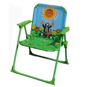 Chaise pliante de jardin pour enfant, motif «la petite taupe»