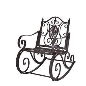 chemin_de_campagne Fauteuil Banc Rocking Chair de Jardin ou d'Extérieur 65.50 cm