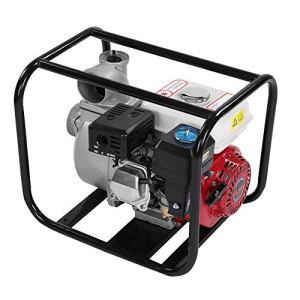 Cocoarm Pompe à Moteur à Essence 3in 6.5HP 8m Pompe de Transfert d'eau à Essence Essence Pompe de Nettoyage de Piscine d'irrigation de Jardin Pompe à Eau à gaz Semi-Pompe