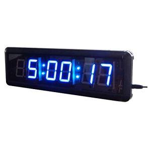 Compte à rebours de Formation Gymnasium numérique Chronomètre Compte à rebours intervallomètre Horloge Temps réel avec télécommande Grand Compte à rebours (Couleur: Noir, Taille: 1,8 Pouces) Peng