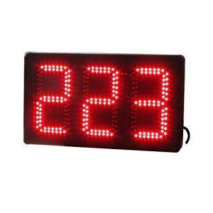 Compte à rebours Grand Chronomètre Compte à rebours numérique Intervalle Gym avec télécommande Grand Compte à rebours (Couleur: Noir, Taille: 47X28X9CM) Peng (Color : Black, Size : 47X28X9CM)