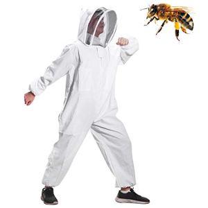 Coton Plein Corps Apiculture Vêtements Voile Capuche Chapeau Vêtements Jaket Protection apiculture costume apiculteur apiculteur équipement (XL)
