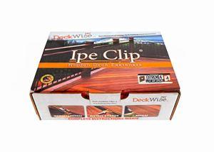 DeckWise Ipe Clip Extreme Lot de 4 fixations cachées pour plateau de 175 m² en acier inoxydable Noir # 8 x 5 cm