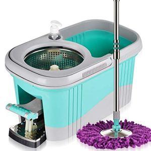 DSWSH Vadrouille, système de nettoyage du sol, vadrouille en microfibre, système de nettoyage du sol du seau