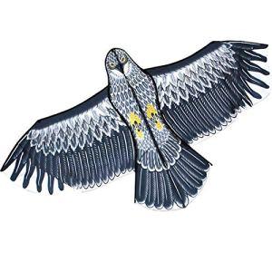 Emulation Flying Drive Bird Kite,Cerf-volant léger à une seule ligne Bird, Cerf-volant de contrôle des oiseaux-140×70cm/Nylon Tissu et tige de verre Poids léger Facile pour les enfants et les adultes