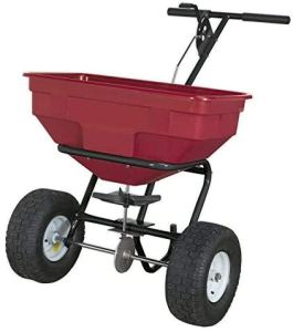 Épandeur rotatif Pneus de 55 livres de 55 livres pour Sand Sand Sand Winter Services,Walk Behind-57 kg