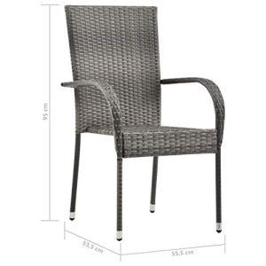 Estink Lot de 2 chaises empilables d'extérieur pour jardin, meubles de jardin, chaises de salle à manger, chaises empilables pour une utilisation dans le jardin, 21,9 x 21,1 x 37,4 cm, 2 pièces