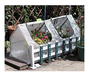 ETNLT-FCZ Serre De Jardin De Jardin Balcon Serre De Jardin Tente pour Plantes Fleurs Bâche Renforcée en PE,avec Cadre (Size : 120x60x60cm)