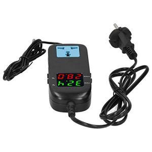 Fiable à utiliser le thermostat électronique, le thermostat numérique durable, équipé de câbles d'alimentation Serres de plantes d'aquarium pour la maison de parc