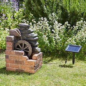Fontaine Solaire avec Moulin à Eau Heywood par Smart Solar – Décor de Jardin Zen