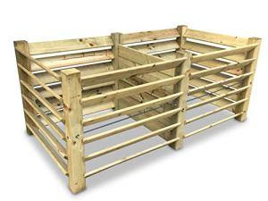 GartenDepot24 Composteur double avec 6 embouts 188 x 100 x 80 cm – env. 1300 l
