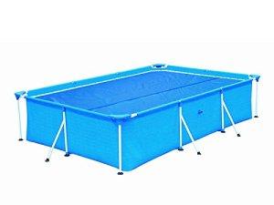 HAFIX Bâche Solaire pour Piscine rectangulaires 300×200 cm – Bâche de Piscine Bâche Solaire Chauffe-Piscine Bleu