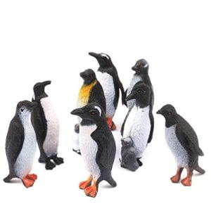 Holibanna 8 Pcs Pingouin Figures Modèles Jouets Pingouins Réalistes Figurine En Plastique Océan Animal Pour Enfants