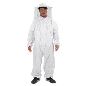 Huakii Costume d'apiculture, équipement de Protection d'apiculteur Professionnel Chapeau Complet de Costume d'apiculteur(XL)
