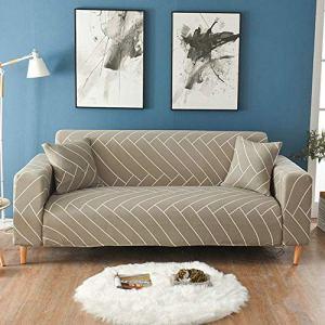 HYS Lot de 2 housses de canapé en coton imprimé floral – Couleur 21