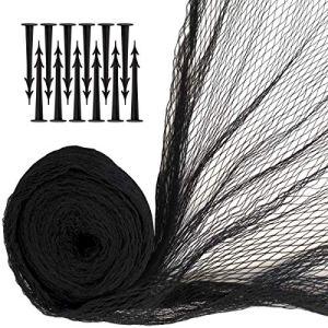 iGadgitz Home U7086 Filet Bassin avec Piquets de Sécurité – Noir – 4 x 5.5m(22m²) 12 piquets