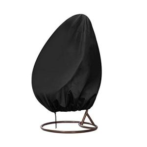 INMUA Couverture de Chaise Suspendue, Housse de Fauteuil Suspendue, Housse de Protection pour Oeufs Chaise Imperméable, Coupe-Vent, Anti-UV, Tissu Oxford robuste (190 x 115 CM)