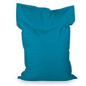 Italpouf Pouf Poire Rectangulaire pour Enfant XL Bleu 98×135 cm 220l Rembourrage en Billes de polystyrene Outdoor