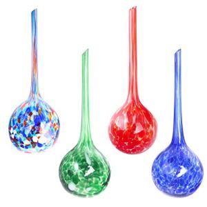 Kitchnexus Lot de 4 boules d'arrosage en verre pour plantes en pot Ø 7 cm
