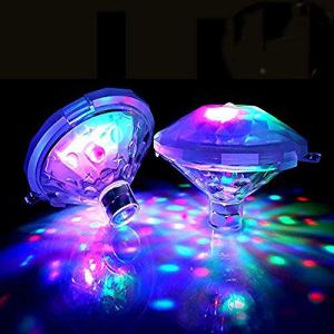 Lampe Flottante sous-Marine LED Disco Aqua Glow Multi Couleur Clignotant Bain étang Piscine Spa Spa Party Night Light avec 7 Modes de Motif