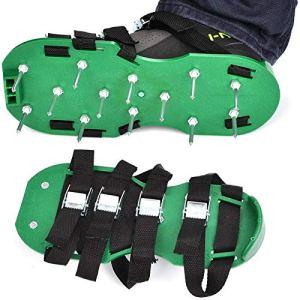 LANGING 1 paire de chaussures aérateurs de pelouse à crampons, 3 sangles, très résistantes.