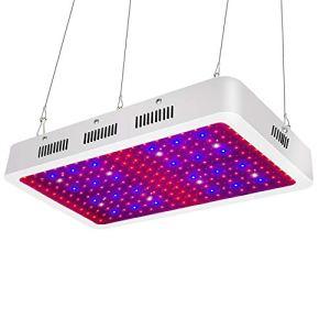 LED Grow Lights,2000W Remplacement HPS,entrée 100-265V, spectre complet élève la lumière pour plantes d'intérieur légume (Perle de lampe à double puce)(Carré 200x10W)