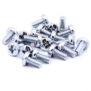Lot de 20 vis Pozi M6 (6 mm x 12 mm) en acier