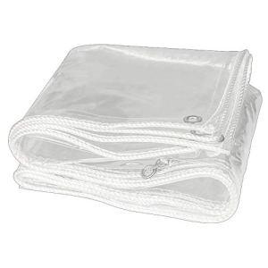 LYUE Bâche Transparent Tissu PVC Balcon Pare-Brise Abri De La Pluie Protection Solaire Épaissir bâche(Size:1.5X1.5M)