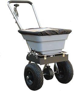 Machine de salage pratique de 80 livres – ne convient pas à la pochette de fertilisation lourde de la pochette de sel de roche,Grey