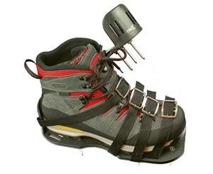 miaX Chaussures professionnelles pour aérateur de pelouse – antidérapantes – meilleure qualité – chaussures optimisées pour une pelouse parfaite – chaussures à chape avec talon surélevé