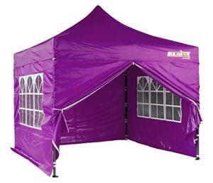 Mohawk® Tonnelle de haute qualité imperméable et résistante,4parois imperméables, sac de rangement imperméable, 3m x3m 3 x 3 m Purple (Including walls)