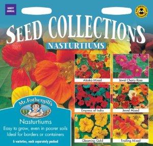 Mr. Fothergill's 16118 Lot de 6 sachets de graines à semer de capucines