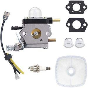 N/C ZAMDOE Carburateur C1U-K54A pour motoculteur/cultivateur Mantis 2 Temps 7222 7222E 7222M 7225 7230 7234, TC-210 TC-210i TC-2100 C1U-K46 C1U-K82, Kit de Reconstruction avec Filtre à air