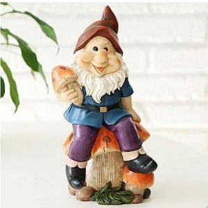Newin Star Jardin Miniature GNOME Statue Ornements décoratifs pour l'intérieur extérieur Maison ou Bureau