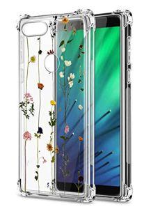 Oihxse Transparent Coque pour Xiaomi Mi 10/Mi 10 Pro Souple TPU Silicone Protection Etui Air Cushion [Shock-Absorption] [Anti-Rayures] Fleurs Motif Housse Bumper (B16)