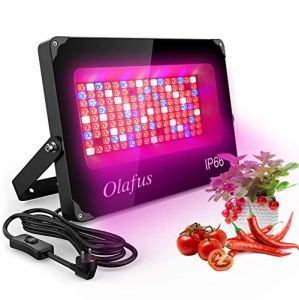 Olafus 1000W Lampe LED Croissance pour Plante Intérieur, IP66 Etanche, 92 LED Spectre Complet, 3 Façons d'Installation, 220V Coque Durable Aluminium Verre Trempé, Floraison Fructification