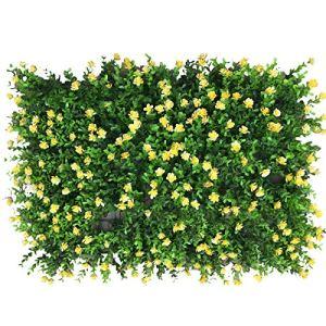 perfecthome Haie Artificielle, Plante Artificielle en Jardin Faux Panneau de Tapis de barrière décoration de Mur de Treillis Faux Tapis d'herbe pour Balcon de Mariage à la Maison