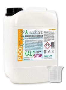 POOL CARE KALC Stop 5 litres + Gobelet Gradué – Détartrant concentré pour piscine – chélateur du calcaire et du fer. Traitement anti-calcaire expédition immédiate