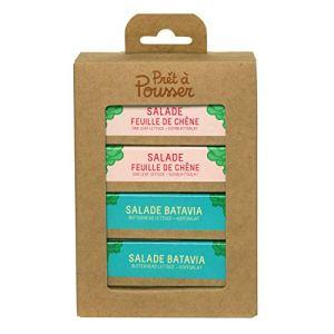 Prêt à Pousser coffret Les Salades – 2X Batavia et 2X Feuille de Chêne – 4 Capsules Pour Votre Potager Lilo ou Modulo …
