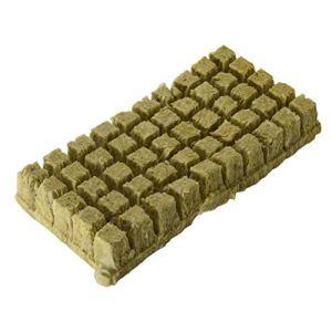 Semences de laine de roche pour culture hydroponique, base de compresse pour la croissance vigoureuse des plantes