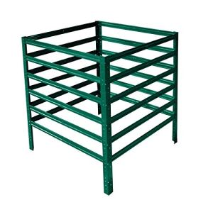 shelfplaza® Home Composteur métallique Jardin Vert de 100x120x120 cm