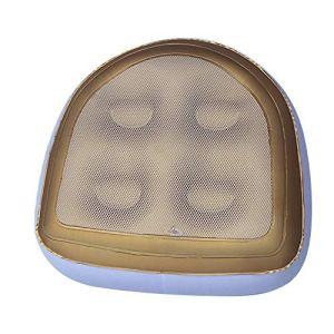 Shujin Tapis de bain gonflable et imperméable – Coussin de massage pour le dos – Confortable et durable – Idéal pour les adultes ou les enfants – Rembourrage gonflable (couleur or)