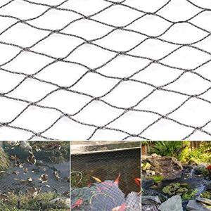 szlsl88 Filet anti-oiseaux, filet de protection contre les animaux, filet de protection pour bassin en polyéthylène avec broches