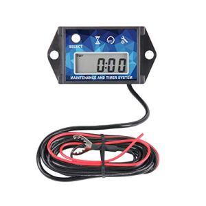 Tachymètre de compteur horaire numérique Runleader,rappel de maintenance,rappel de tours/ minute,arrêt de l'utilisateur,utilisation pour tondeuse à gazon Générateur de tracteur gazon Moteur(BLUE)