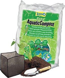 Tetra Pond AquaticCompost – Engrais, Terreau pour Fond de Bassin – Nutriments pour Plantes de Bassin de Jardin et d'Ornement – Favorise la Croissance des Plantes – 8 L